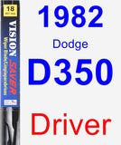 Driver Wiper Blade for 1982 Dodge D350 - Vision Saver