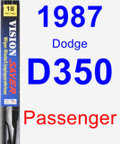Passenger Wiper Blade for 1987 Dodge D350 - Vision Saver