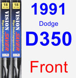 Front Wiper Blade Pack for 1991 Dodge D350 - Vision Saver