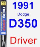 Driver Wiper Blade for 1991 Dodge D350 - Vision Saver