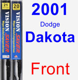 Front Wiper Blade Pack for 2001 Dodge Dakota - Vision Saver