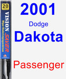 Passenger Wiper Blade for 2001 Dodge Dakota - Vision Saver