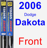Front Wiper Blade Pack for 2006 Dodge Dakota - Vision Saver