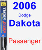 Passenger Wiper Blade for 2006 Dodge Dakota - Vision Saver