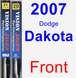 Front Wiper Blade Pack for 2007 Dodge Dakota - Vision Saver