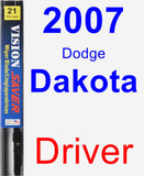 Driver Wiper Blade for 2007 Dodge Dakota - Vision Saver