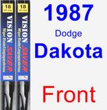 Front Wiper Blade Pack for 1987 Dodge Dakota - Vision Saver
