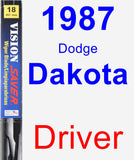 Driver Wiper Blade for 1987 Dodge Dakota - Vision Saver