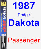 Passenger Wiper Blade for 1987 Dodge Dakota - Vision Saver