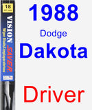 Driver Wiper Blade for 1988 Dodge Dakota - Vision Saver