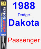 Passenger Wiper Blade for 1988 Dodge Dakota - Vision Saver