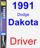 Driver Wiper Blade for 1991 Dodge Dakota - Vision Saver