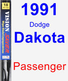 Passenger Wiper Blade for 1991 Dodge Dakota - Vision Saver
