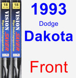 Front Wiper Blade Pack for 1993 Dodge Dakota - Vision Saver