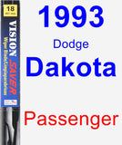 Passenger Wiper Blade for 1993 Dodge Dakota - Vision Saver