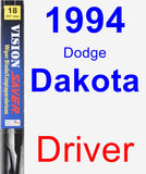 Driver Wiper Blade for 1994 Dodge Dakota - Vision Saver