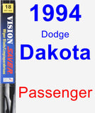 Passenger Wiper Blade for 1994 Dodge Dakota - Vision Saver