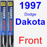 Front Wiper Blade Pack for 1997 Dodge Dakota - Vision Saver