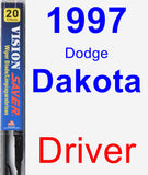 Driver Wiper Blade for 1997 Dodge Dakota - Vision Saver