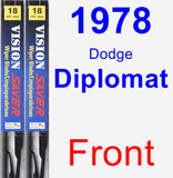 Front Wiper Blade Pack for 1978 Dodge Diplomat - Vision Saver