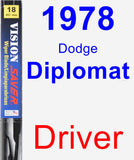 Driver Wiper Blade for 1978 Dodge Diplomat - Vision Saver