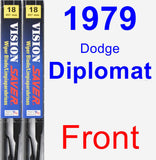 Front Wiper Blade Pack for 1979 Dodge Diplomat - Vision Saver