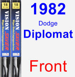 Front Wiper Blade Pack for 1982 Dodge Diplomat - Vision Saver