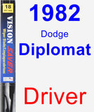 Driver Wiper Blade for 1982 Dodge Diplomat - Vision Saver