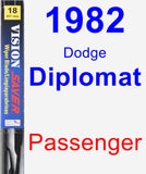 Passenger Wiper Blade for 1982 Dodge Diplomat - Vision Saver