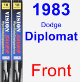 Front Wiper Blade Pack for 1983 Dodge Diplomat - Vision Saver