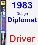Driver Wiper Blade for 1983 Dodge Diplomat - Vision Saver