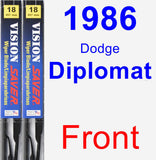 Front Wiper Blade Pack for 1986 Dodge Diplomat - Vision Saver