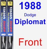 Front Wiper Blade Pack for 1988 Dodge Diplomat - Vision Saver