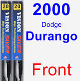 Front Wiper Blade Pack for 2000 Dodge Durango - Vision Saver