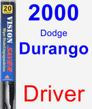 Driver Wiper Blade for 2000 Dodge Durango - Vision Saver