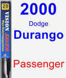 Passenger Wiper Blade for 2000 Dodge Durango - Vision Saver