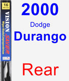 Rear Wiper Blade for 2000 Dodge Durango - Vision Saver