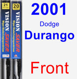 Front Wiper Blade Pack for 2001 Dodge Durango - Vision Saver