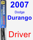 Driver Wiper Blade for 2007 Dodge Durango - Vision Saver