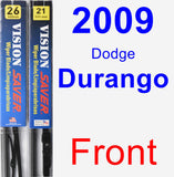 Front Wiper Blade Pack for 2009 Dodge Durango - Vision Saver