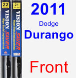 Front Wiper Blade Pack for 2011 Dodge Durango - Vision Saver