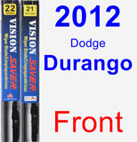 Front Wiper Blade Pack for 2012 Dodge Durango - Vision Saver