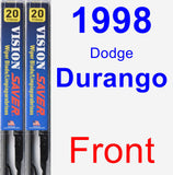 Front Wiper Blade Pack for 1998 Dodge Durango - Vision Saver