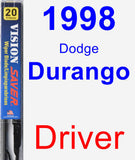 Driver Wiper Blade for 1998 Dodge Durango - Vision Saver