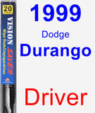 Driver Wiper Blade for 1999 Dodge Durango - Vision Saver