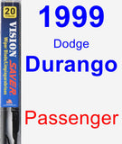 Passenger Wiper Blade for 1999 Dodge Durango - Vision Saver