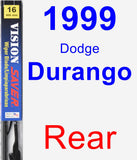 Rear Wiper Blade for 1999 Dodge Durango - Vision Saver