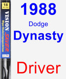 Driver Wiper Blade for 1988 Dodge Dynasty - Vision Saver