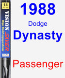 Passenger Wiper Blade for 1988 Dodge Dynasty - Vision Saver