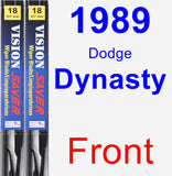 Front Wiper Blade Pack for 1989 Dodge Dynasty - Vision Saver